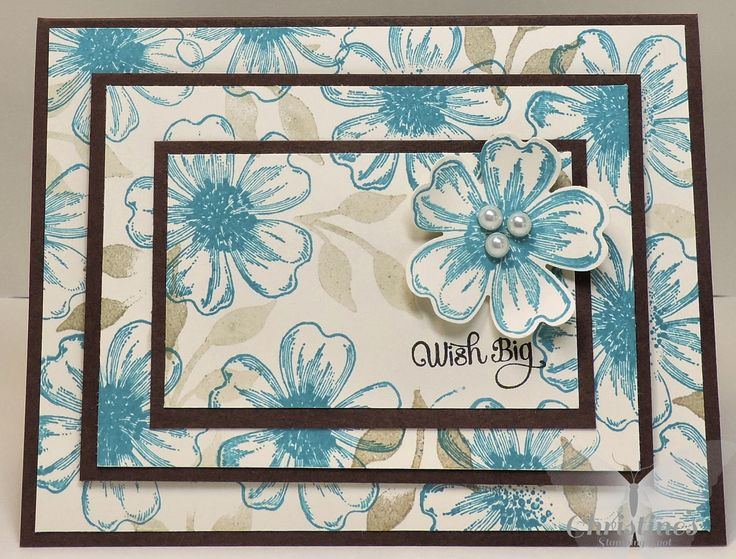Christines Stamping Spot; triple step stamping; card; stampin up!; stampin up; stampin up; su; stampin up only; flower shop