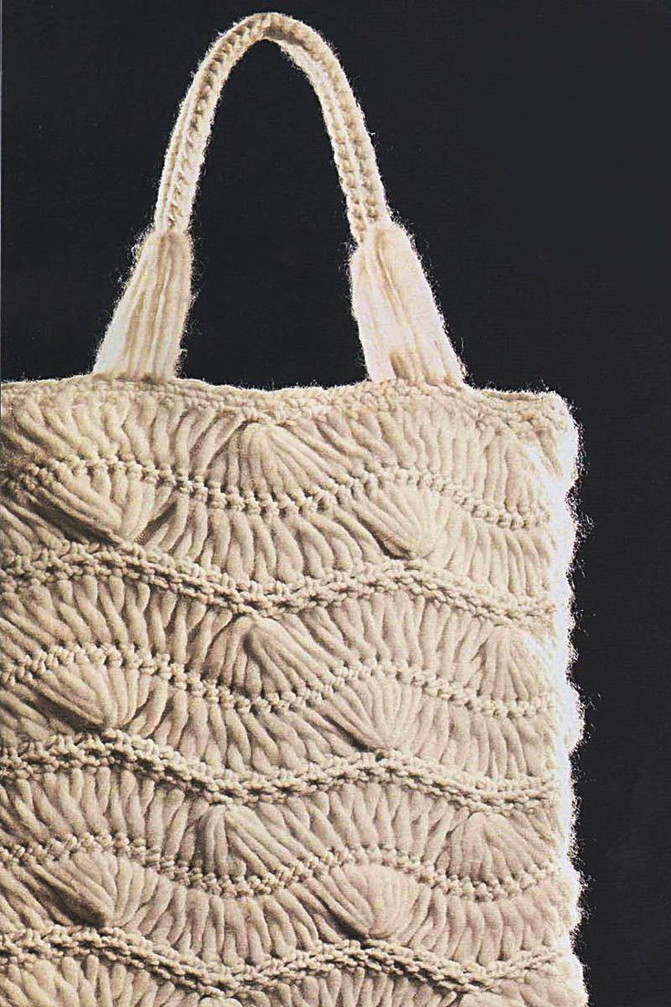 Hairpin Crochet Tote Bag