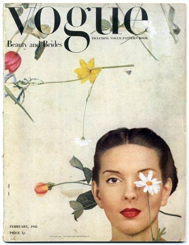 British Vogue February 1945: February 1945, Vintage Wardrobe, Graphics Design, British Vogue, Vintage Magazines, Vogue February, Magazines Covers, Vogue Covers, Vintage Vogue