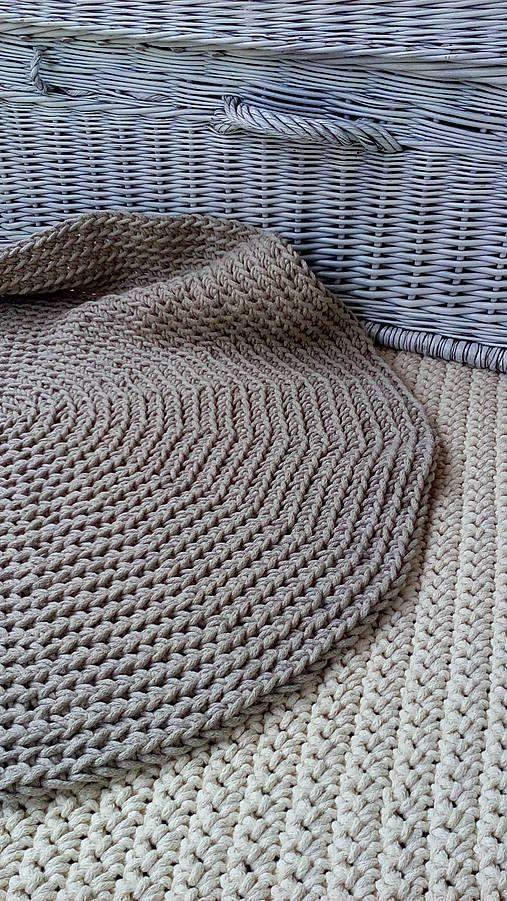 Okrúhly koberec -100 % bavlna