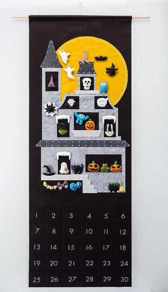 Halloween Countdown Felt PDF Pattern by SugarHouseShop