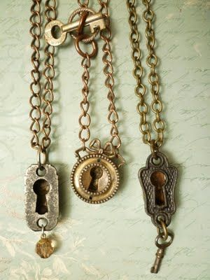 keyhole necklaces by reinventedobjects
