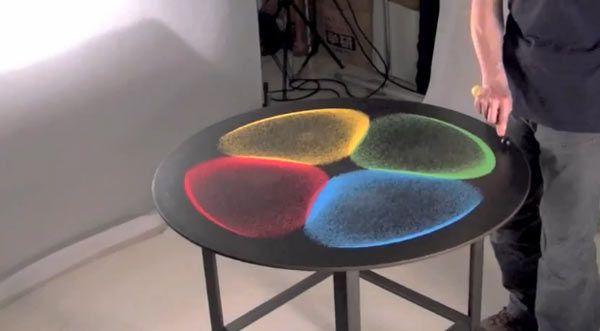 Combineer gekleurd zand met trillingen en je krijgt kunst   Gadgets Magazine