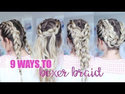 9 ways to boxer braids!! YouTube #Boxer #boxer #bo…