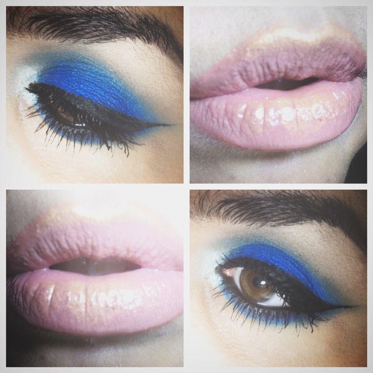 My #makeup for tonight.  #instamakeup #cosmetic #eyeliner #mulac #mulacosmetic #eyes #eyeshadow #lips #lipstick #fotd #tonigt #beauty #lashes #blue #blueeyes #browneyes #fashion #instagram