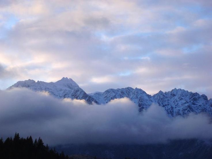 line of clouds cover the remarkables mountain range, newzealand - free stock photo from www.freeimages.co.uk