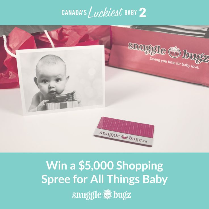 Win a $1500 shopping spree from Snugglebugz for your baby. It's only part of what you could win when you enter Canada's Luckiest Baby http://canadasluckiestbaby.com #CLB2
