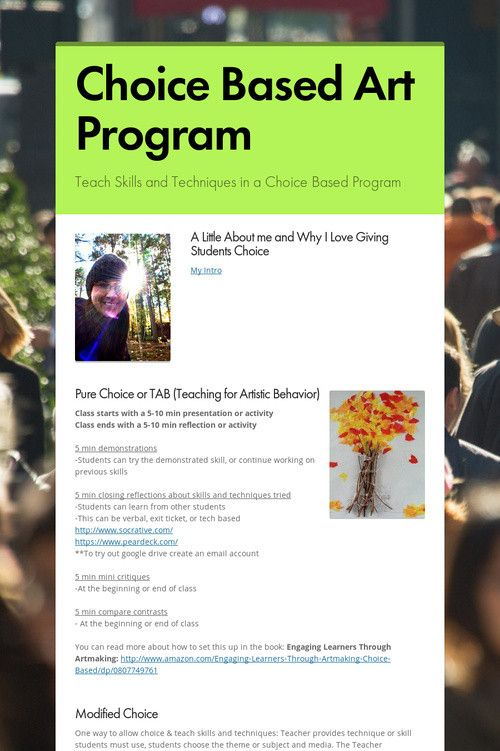 Choice Based Art Program