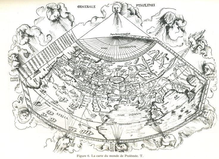 Ptolémée - in Cartes des anciens rois des mers, Hapgood, ed. du Rocher 1981