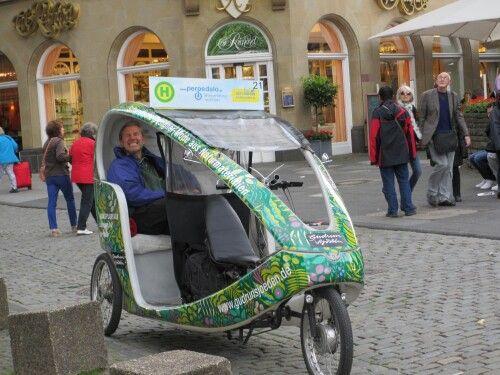 Cologne bike taxi driver