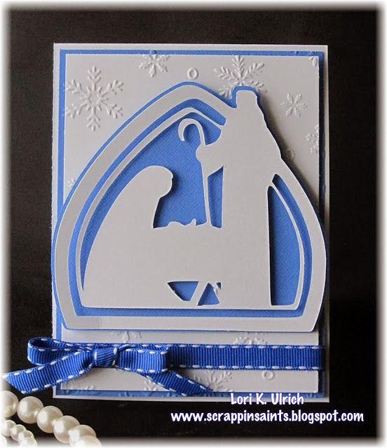 Papercrafts by SaintsRule!: Exploring Cricut ~ Christmas Cards Challenge ~