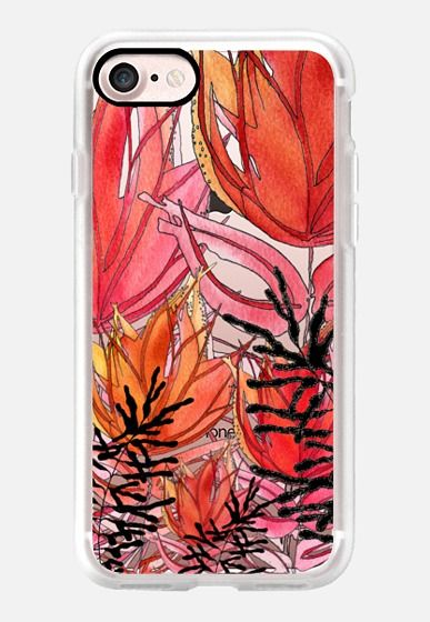 Casetify iPhone 7 Classic Grip Case - Red Wild Flowers3 by GosiaandHelena by GosiaandHelena #Casetify