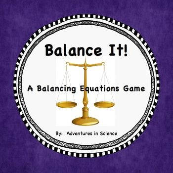 This fun activity was designed to support advanced middle school and high school students learning about the Law of Conservation of Mass and balancing chemical equations.  Balance It! is an ideal activity to support student understanding of the Law of Conservation of Mass because it allows students to practice balancing chemical equations in a fun way!  Since most students think dry-erase is fun and different, each equation becomes a puzzle to solve!  $