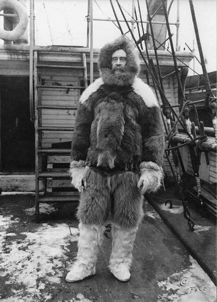 Robert Peary (1856-1920) American naval officer, civil engineer, and explorer. His claim to have reached the geographic North Pole with his expedition on April 6, 1909 was later discredited