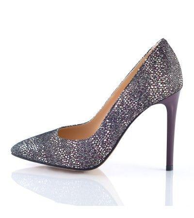 Pantofi stiletto trend print