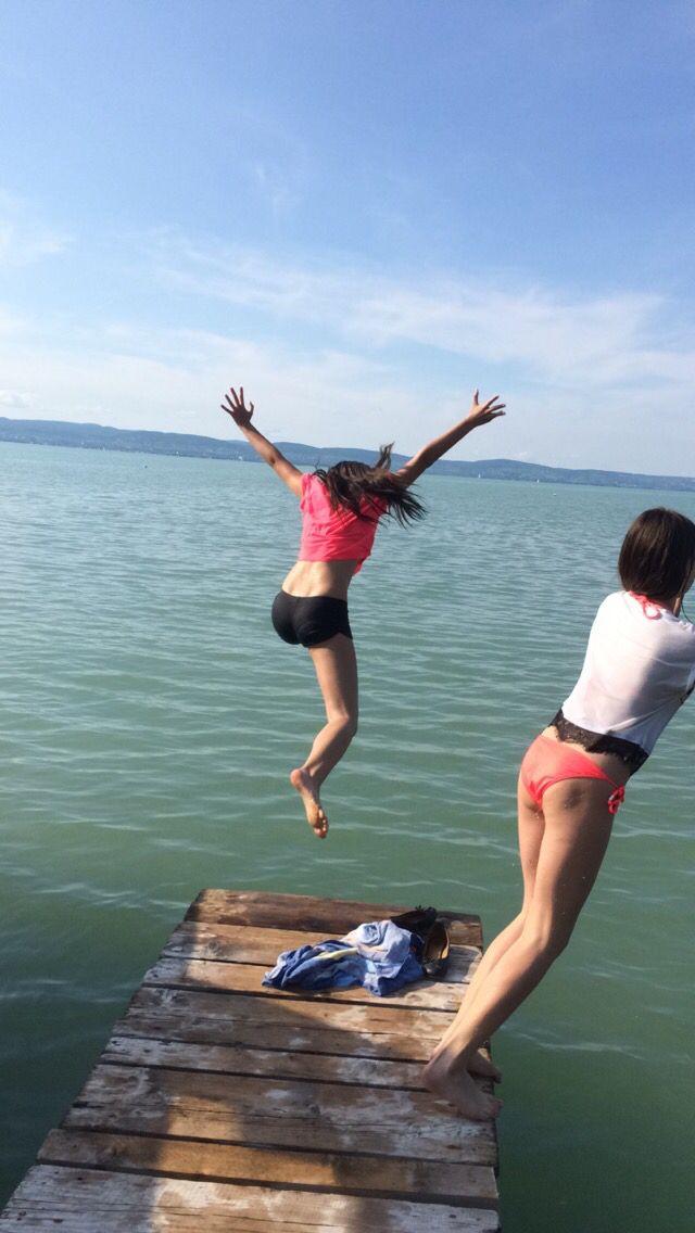 Jumping - Lake Balaton  #like #follow #likeforlike #followforfollow #zamárdi #hungary #balaton #lake #jump #jumping #bff #beautiful #amazing #view