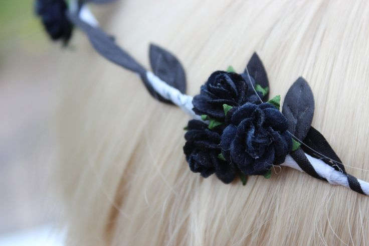 Black Rose Flower Crown Black Flower Crown Black and by beauxoxo, £9.00