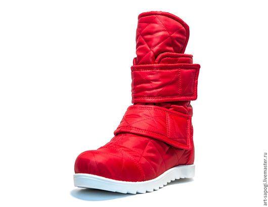 Обувь ручной работы. Ярмарка Мастеров - ручная работа. Купить Зимние ботинки 6z-261 (СБ). Handmade. Женская обувь