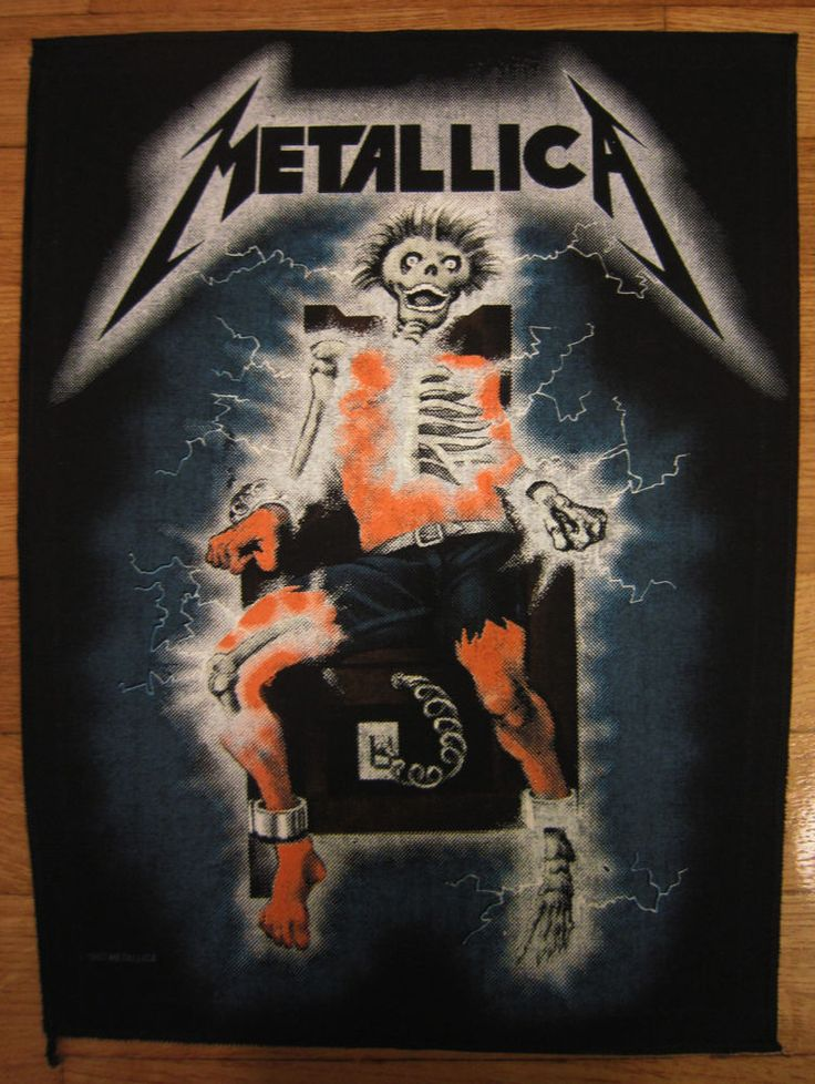 1986 METALLICA VINTAGE RIDE THE LIGHTNING BACK PATCH GLOW IN THE DARK zorlac