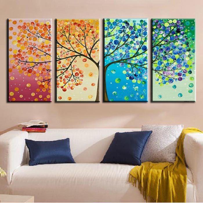 85 ideas of paintings for the interior with his own hands-005