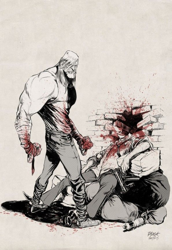 Luther Strode pinup by my friend Marcelo Braga - www.diburros.com.br
