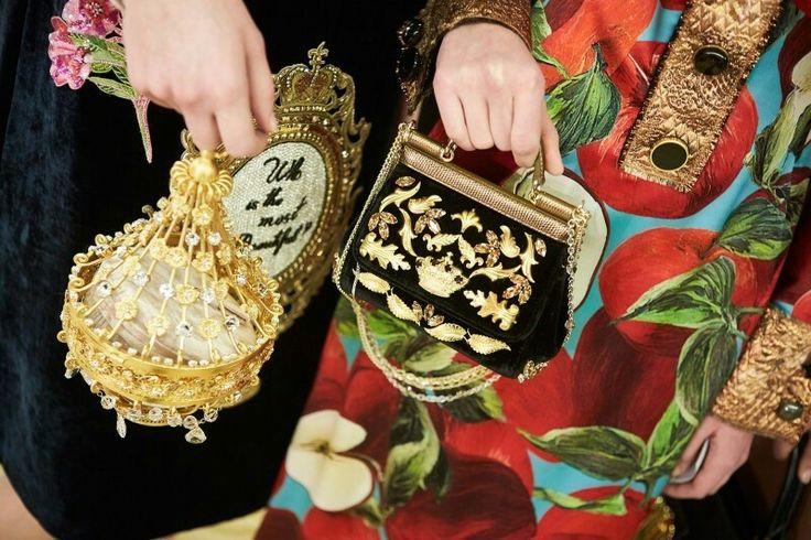 dolcegabbana F/W16/17 #DGFabulousFantasy Women's Fashion Show. Glamour mini Handbags. More insights on @dolcegabbana and #dgfw17. Also follow @voguerunway and #MFW.