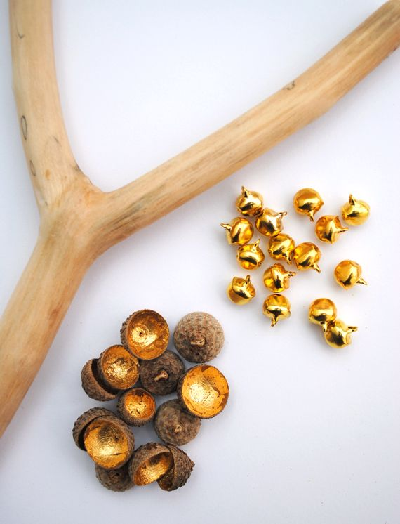 Bell shaker made from acorn tops and little brass bells you can get at the craft store.