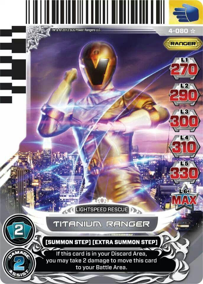 Titanium Ranger Power Rangers Trading Card