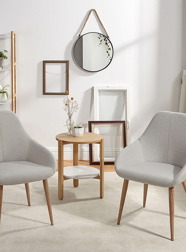 La chaise moderne sur pieds façons bois de chêne Ensemble de 2   Simons Maison   Chaises, tabourets et bancs en exclusivité Web   Simons