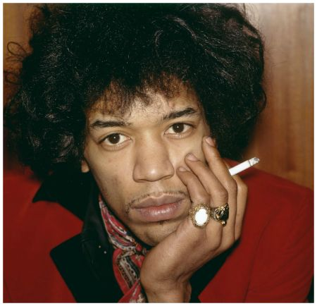 Jimi Hendrix Portait 1966  Photo Nico Van der Stam