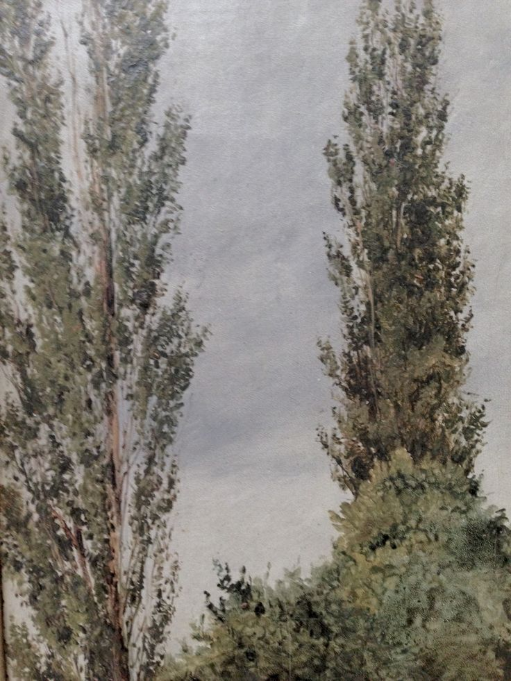 Christian Købke (1810-1848) / Two Tall Poplars / 1836  @ Carlsberg Glyptoteket CPH