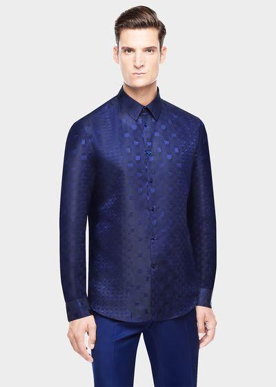 Abstract Prince of Wales Shirt - A45M Shirts