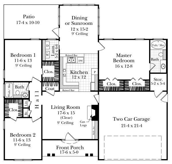 32 best atrium ranch homes images on pinterest floor for Atrium ranch house plans