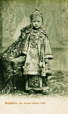 Early Postcard showing Straits Chinese Girl c.1910