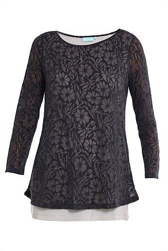 2-Layer Stripe Top - Women's Tops - Shop New Women's Tops Style & Fashions