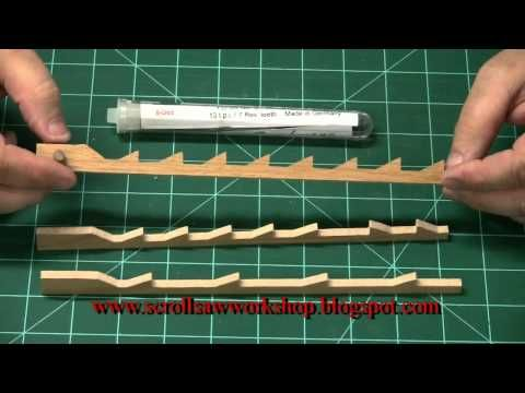 Scroll Saw School Lesson0001 Scroll saw blades Part 1