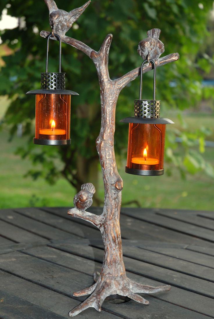 Heron garden ornament - Bird T Light Garden Ornament