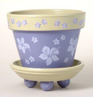 164 Aloha Flower Pot Stencil