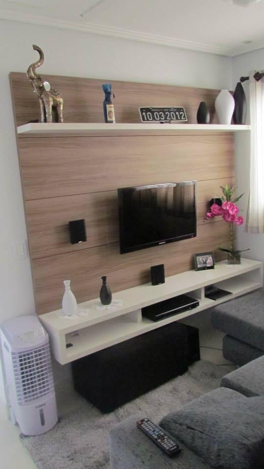 Precisando de espaço? Ganhe espaço instalando sua TV na parede #suporte #elg