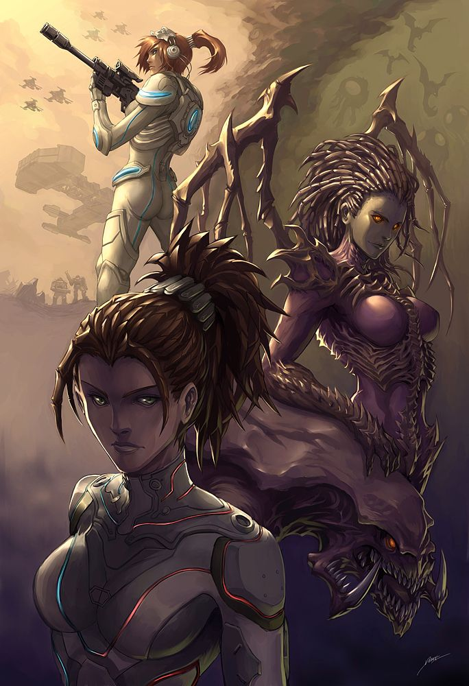 #StarCraft Kerrigan Poses