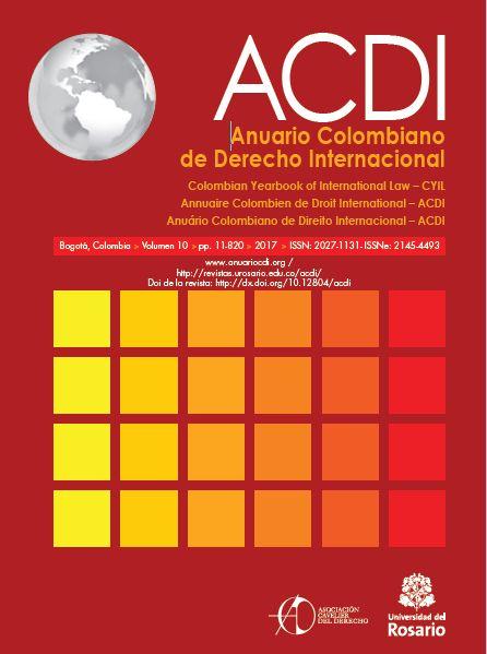 ACDI - Anuario Colombiano de Derecho Internacional Vol. 10 (2017)