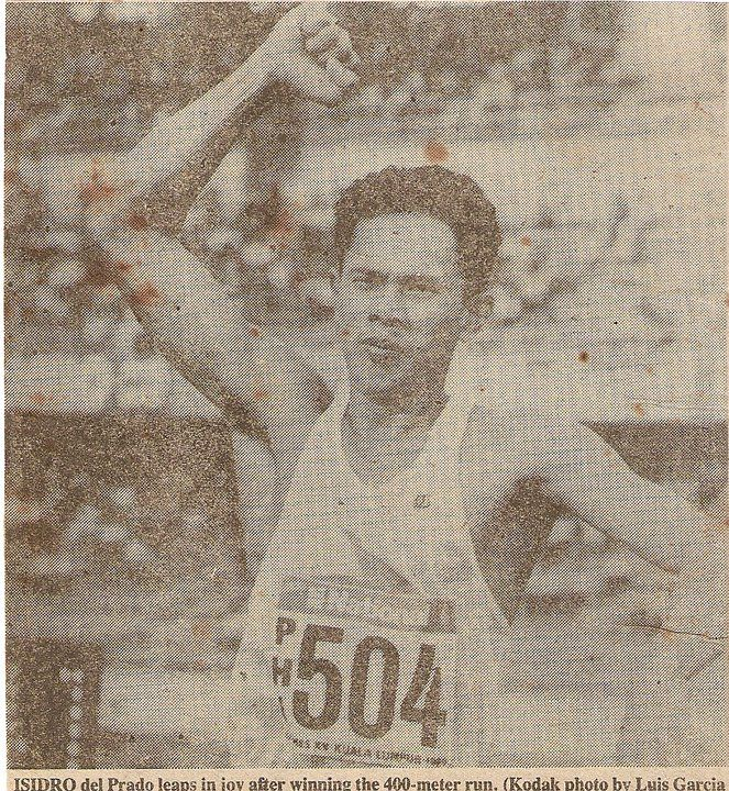 Isidro Del Prado    By Pirie Enzo with insights by Ignacio Dee  In the early 80s a young man emerged who would take the Mens 400m dash further than any Filipino that came before him. Also he set a new bench mark in this event until today his performance of 45.57 remains the Filipino National Record 28 years later and still a respectable time at international level.   #1964 Summer Olympics #1974 FIFA World Cup #2007 AFC Asian Cup #2010 FIFA World Cup #2014 FIFA Wor