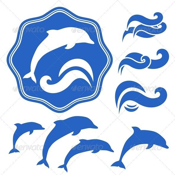 Dolphins silhouettes