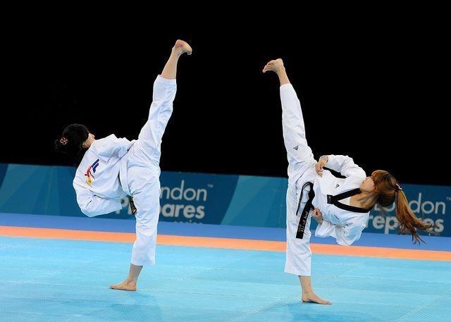 My instructor kenny walton makes us do this in taekwondo to se who lasts longest.