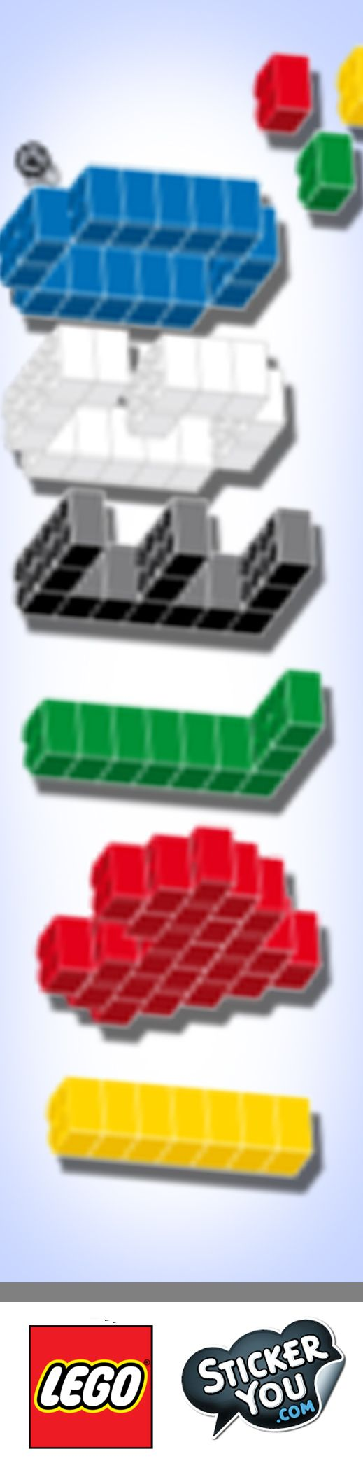 Bumper stickers design your own - Customize Your Own Lego Stickers With Stickeryou S