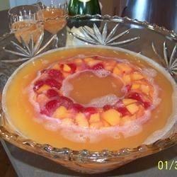 Champagne Peach Punch Allrecipes.com