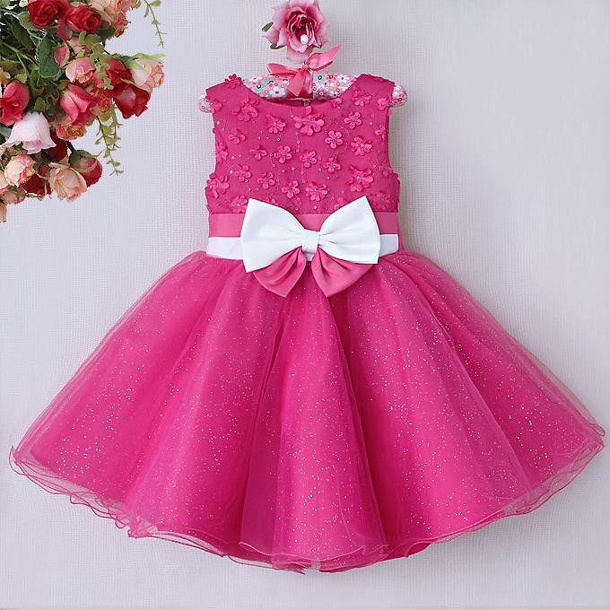 2015 hoogwaardige baby meisje feestjurken roze polyester jurk met bloemen en strikken kinderen mooie jurken voor meisjes gd40814-24-meisjes jurken-product-ID:60013434984-dutch.alibaba.com