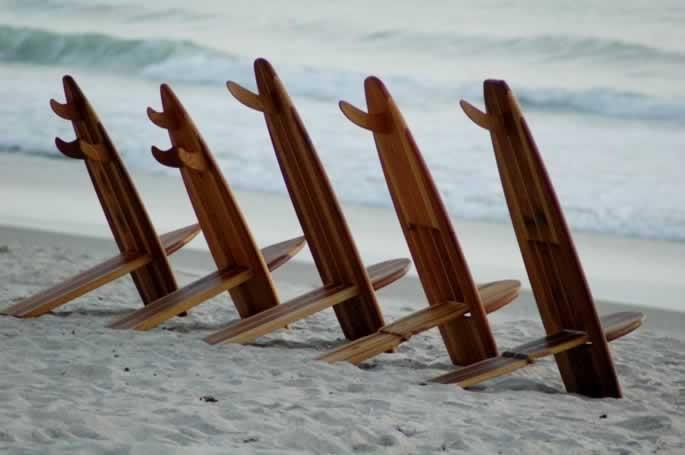 Bombwatcher Surfboard Chairs