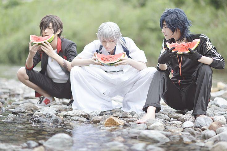 [Date set] get along watermelon ^^ candlestick Tadashi Setsu-ko ate: Moge 汰 / large Kurikara: heaven / Tsurumaru KuniHisashi: Cru photo by Isako
