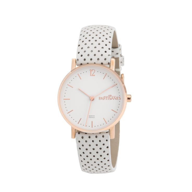 L'Audacieuse Or Rose Perforé Blanc  #lespartisanes #womens # watches #madeinfrance #watchaddict #jewellery #love #summer #paris #spring #toutespartisanes